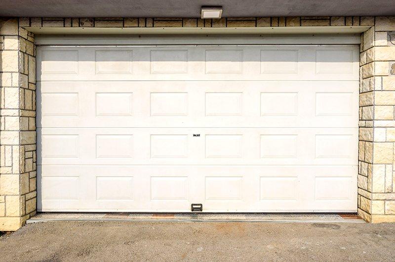 white garage door pvc